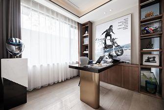 富裕型110平米三室两厅轻奢风格书房欣赏图