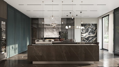 豪华型140平米四混搭风格厨房图片