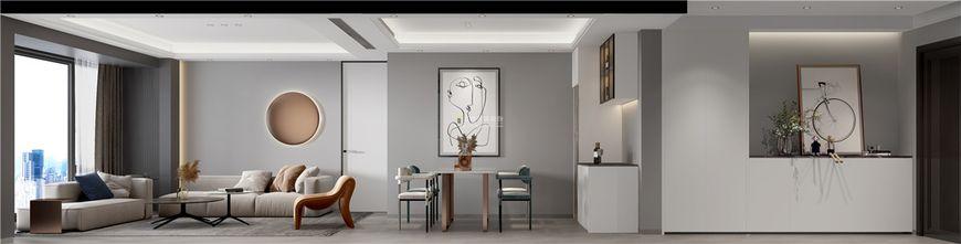 富裕型三室一厅现代简约风格客厅设计图