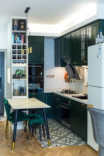 经济型50平米一室一厅轻奢风格餐厅装修效果图