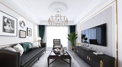 富裕型110平米三美式风格客厅欣赏图