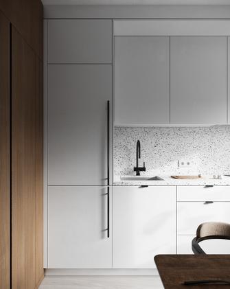 经济型80平米一室一厅现代简约风格厨房图片大全
