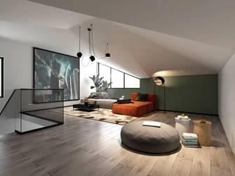 豪华型140平米复式轻奢风格阁楼图片大全