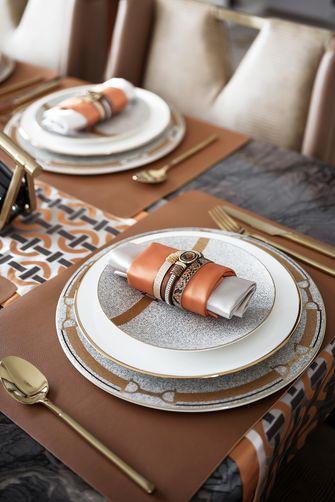 豪华型120平米三室四厅轻奢风格餐厅图片