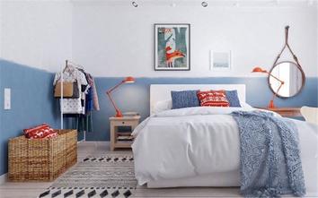 5-10万50平米一室一厅北欧风格卧室欣赏图