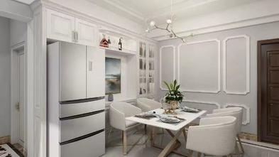 富裕型90平米三欧式风格餐厅图片大全