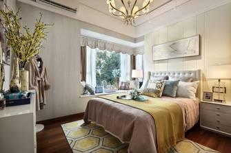 富裕型120平米三室一厅法式风格卧室图片大全