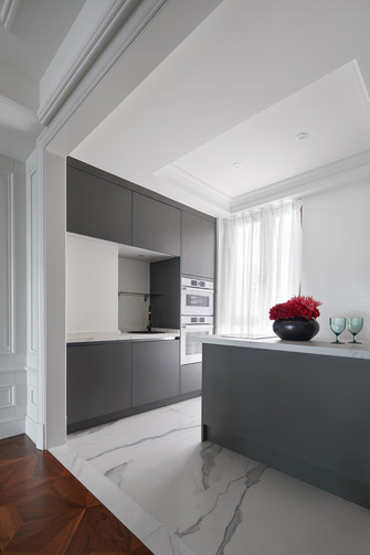 15-20万140平米三室两厅法式风格厨房图片