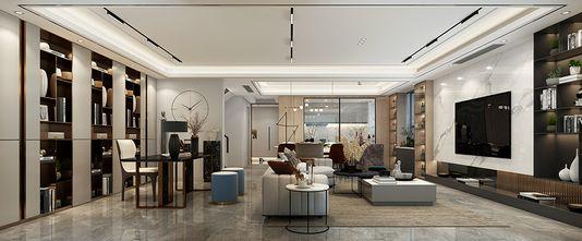 140平米四轻奢风格客厅设计图
