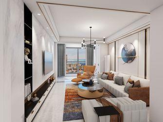 100平米三室两厅现代简约风格客厅效果图