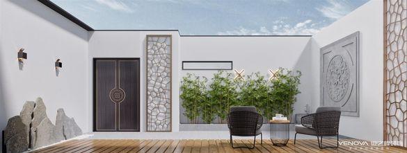 140平米四室一厅现代简约风格阳台图片大全