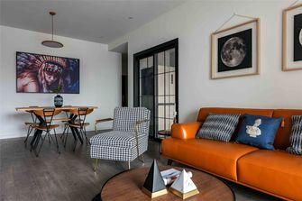 富裕型80平米三室一厅美式风格客厅图片