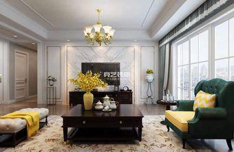 130平米四室两厅美式风格客厅图片