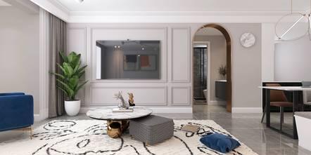 三室一厅法式风格客厅图片