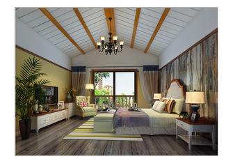 豪华型140平米别墅地中海风格卧室图片