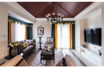 140平米三室两厅田园风格客厅图片