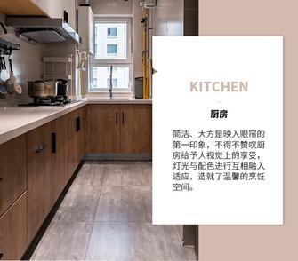 富裕型120平米三室一厅轻奢风格厨房图片大全