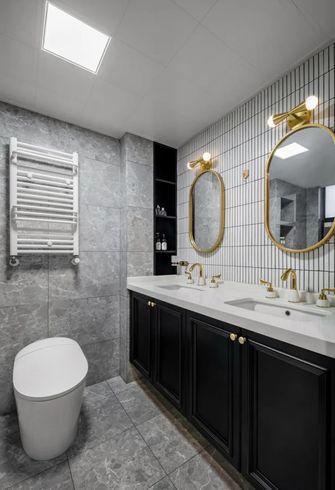 富裕型130平米三室两厅美式风格卫生间装修图片大全
