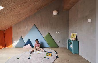 3-5万140平米现代简约风格阳光房设计图