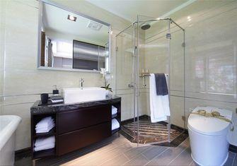 90平米三室一厅日式风格卫生间图