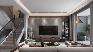 140平米复式轻奢风格客厅设计图