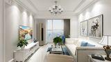 80平米欧式风格客厅效果图