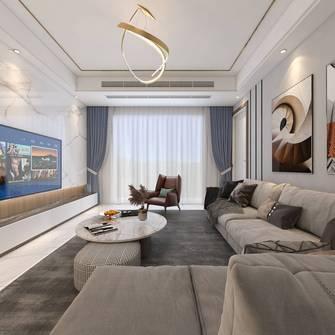 富裕型140平米四室四厅现代简约风格客厅图片