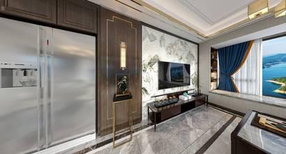 20万以上110平米三中式风格客厅效果图
