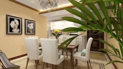 100平米三室两厅田园风格餐厅效果图