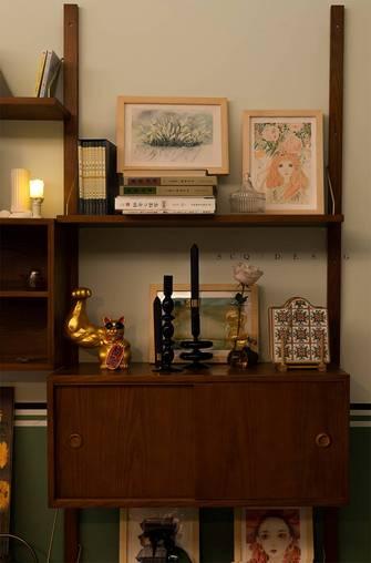 富裕型120平米三室一厅美式风格书房装修案例