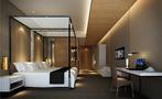 140平米公装风格卧室效果图
