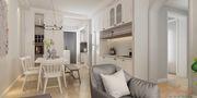 120平米三室两厅地中海风格餐厅装修效果图