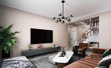 110平米四室三厅现代简约风格客厅图片大全