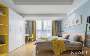 经济型50平米一室一厅现代简约风格卧室装修案例