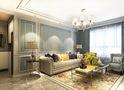 经济型100平米三室两厅欧式风格客厅效果图