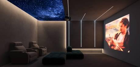 豪华型140平米别墅美式风格影音室设计图