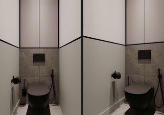 富裕型110平米三室一厅现代简约风格卫生间装修案例