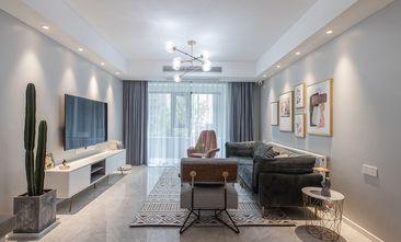 10-15万110平米三室一厅北欧风格客厅图