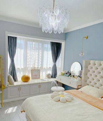 富裕型100平米三室两厅现代简约风格卧室图