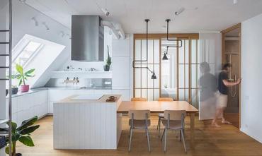 经济型50平米一居室现代简约风格厨房图片大全