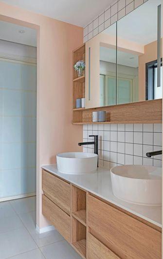 富裕型80平米三室两厅日式风格卫生间设计图