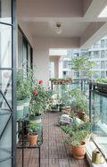 三室一厅新古典风格阳台效果图
