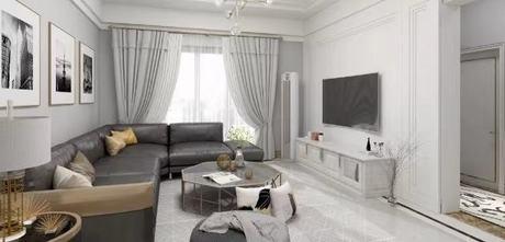 富裕型90平米三欧式风格客厅图片