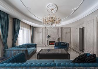 豪华型140平米三室两厅中式风格客厅效果图