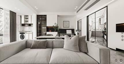 15-20万90平米三室两厅轻奢风格餐厅装修案例