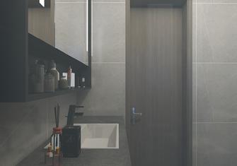 经济型50平米公寓现代简约风格卫生间设计图