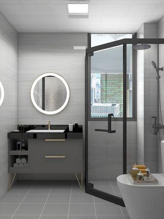 富裕型100平米三室两厅现代简约风格卫生间欣赏图