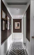 富裕型130平米三室两厅美式风格走廊装修图片大全