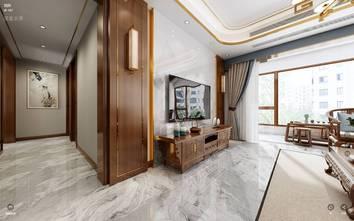 130平米三室两厅中式风格客厅装修效果图