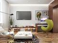 3-5万40平米小户型北欧风格客厅图片